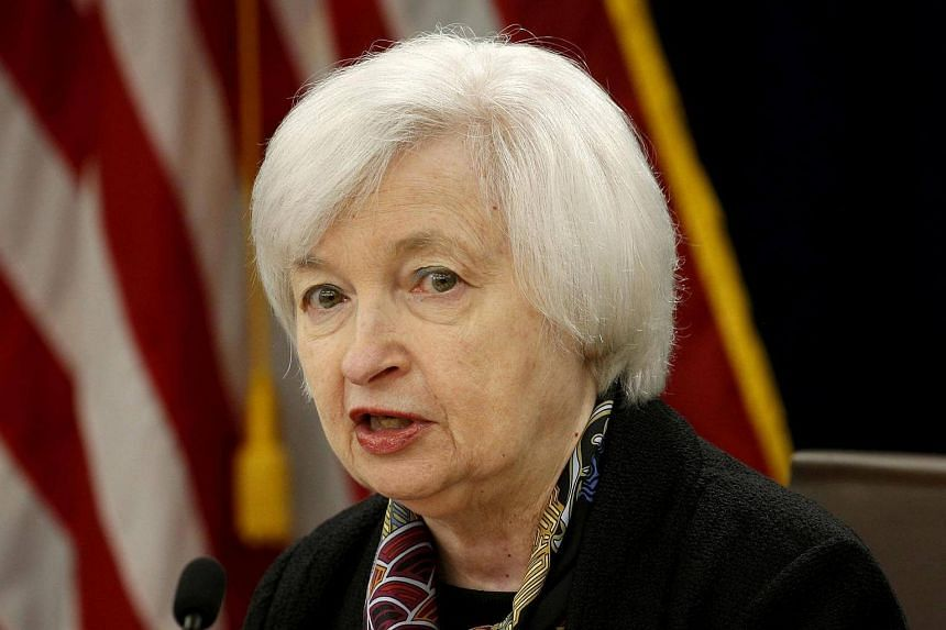 US Federal Reserve Chair Janet Yellen speaks during a news conference following the two-day Federal Open Market Committee policy meeting in Washington, DC, US on March 16.