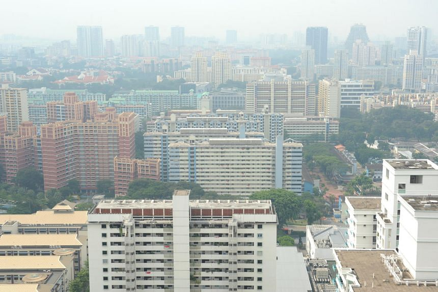 A hazy view from Toa Payoh Central taken on Aug 26, 2016.