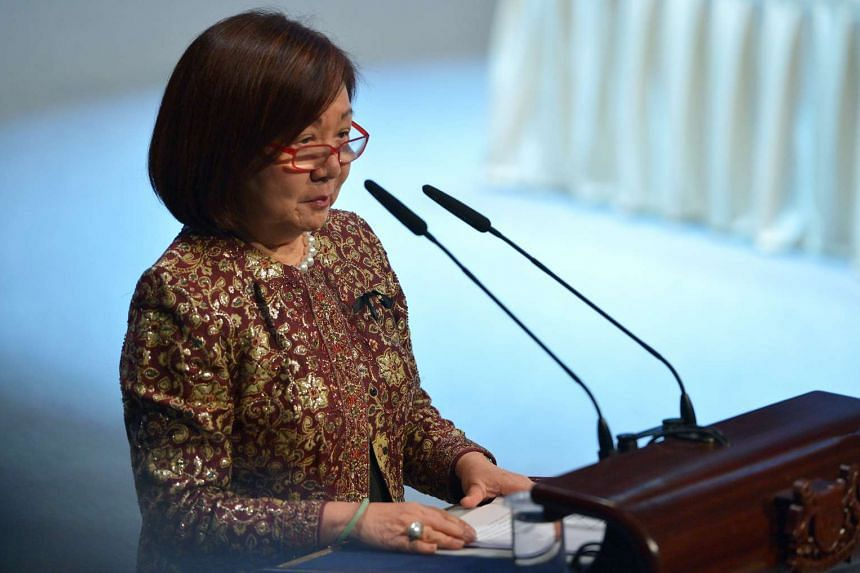 Ms Jennie Chua giving her eulogy on Aug 26, 2016.