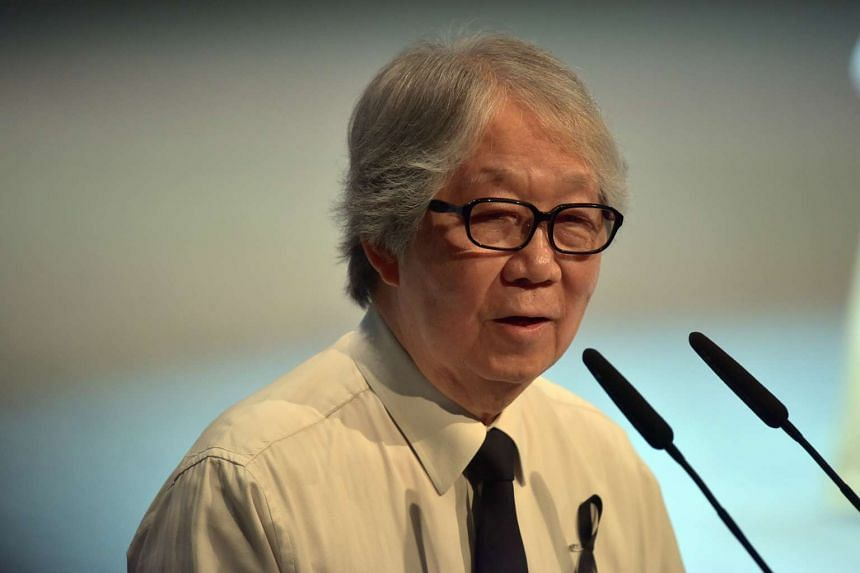 Ambassador-at-large Tommy Koh giving his eulogy on Aug 26, 2016.