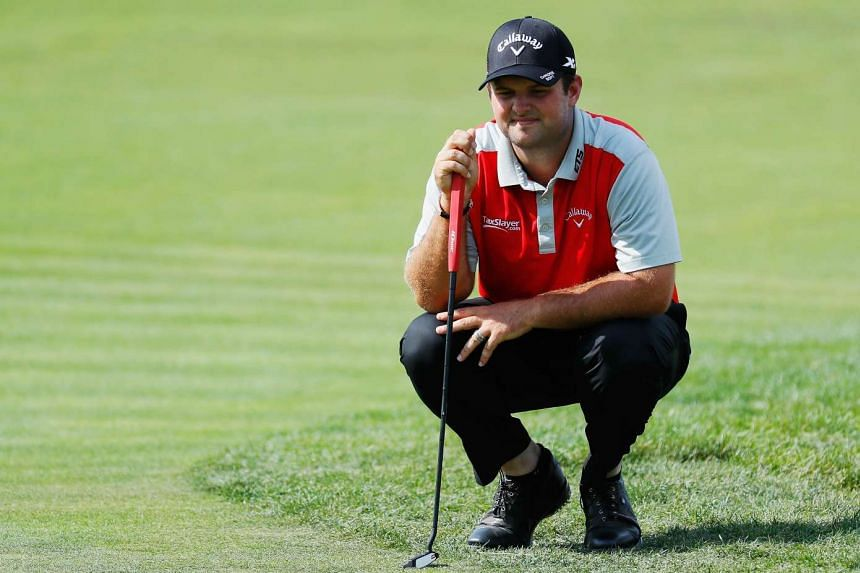 Patrick Reed waiting on the 11th green during the second round of The Barclays in the PGA Tour FedExCup Play-Offs on the Black Course at Bethpage State Park on Aug 26, 2016.