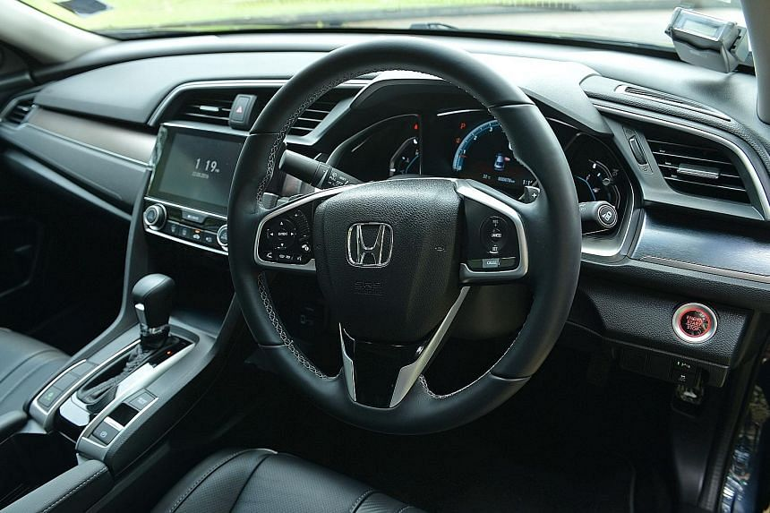 [ ]The Honda Civic 1.5 has a well-laid-out cockpit that comes with features such as a steering-mounted cruise control and touchpad-style volume control. [/ ]