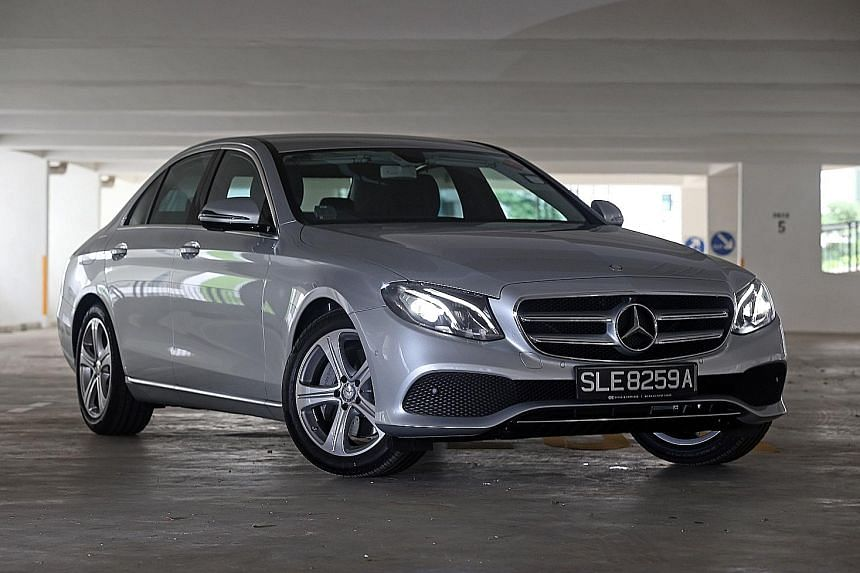 The Mercedes- Benz E200 measures almost 5m tip to tip and its cabin is modern and full of features.