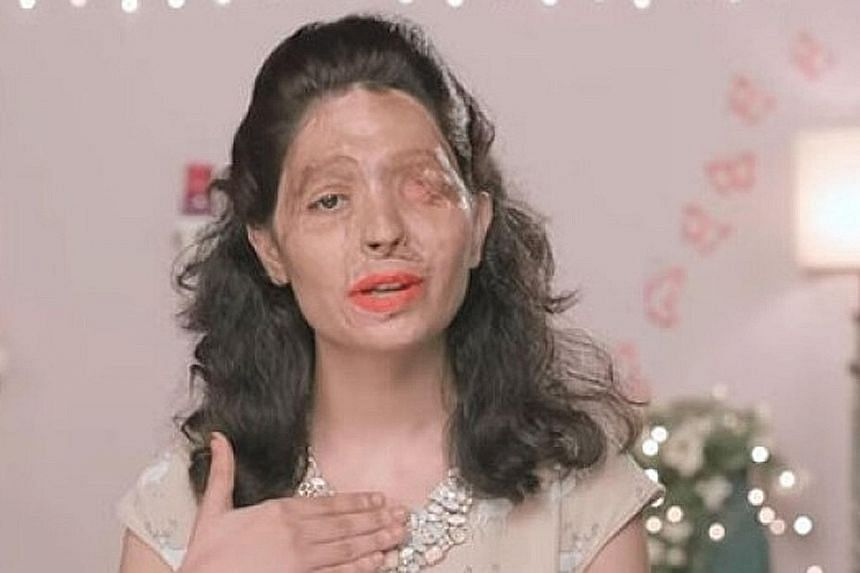 Ms Reshma Qureshi is the face of a campaign to end the open sale of acid in India and appears in videos on YouTube offering beauty tips.