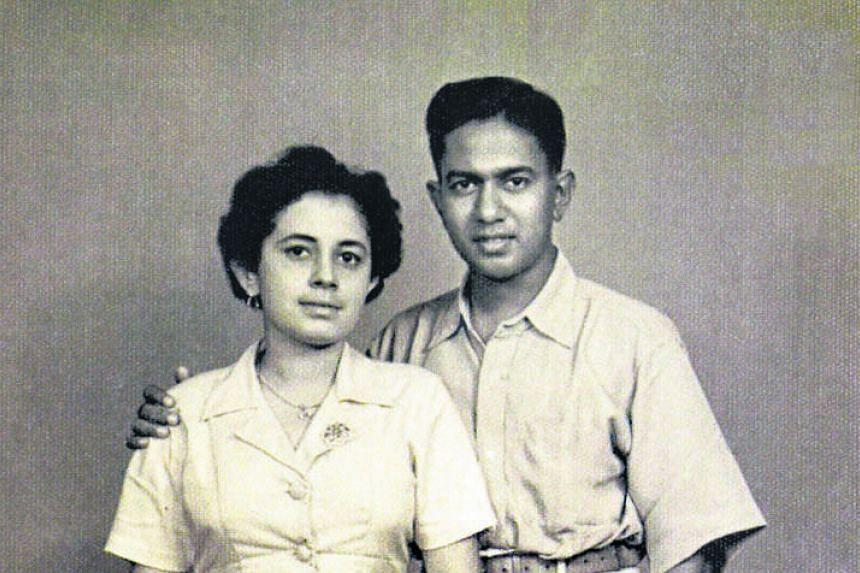 Mr Nathan with Umi in Kuala Lumpur on Sept 4, 1952, before she flew off to Britain for her studies. He first met her in 1942, when she was 13 and he was 18. They got married after a courtship which lasted 16 years.