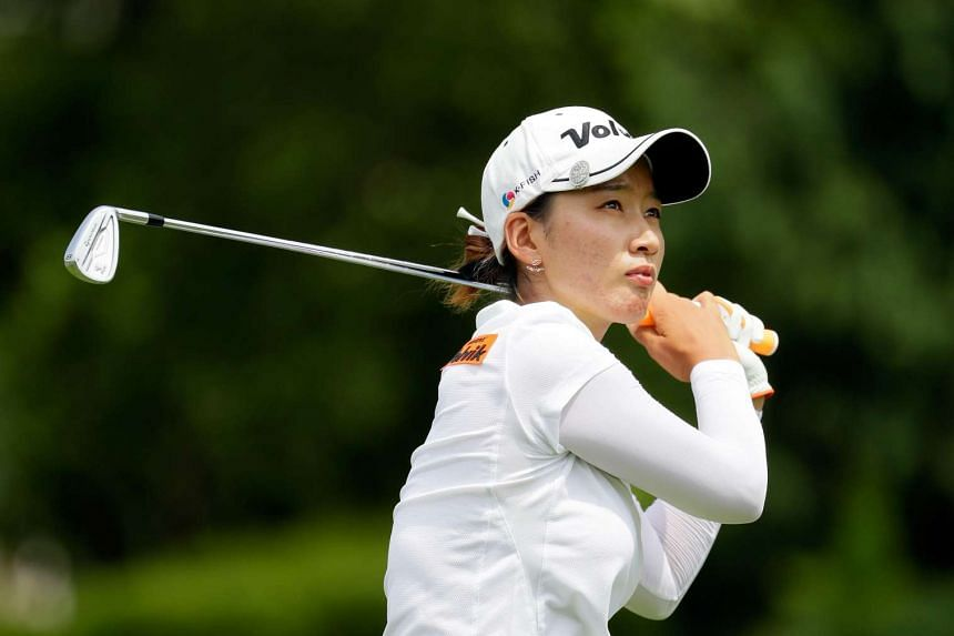 Choi's (above) seven-under-par round put her one clear of Northern Ireland's Stephanie Meadow.