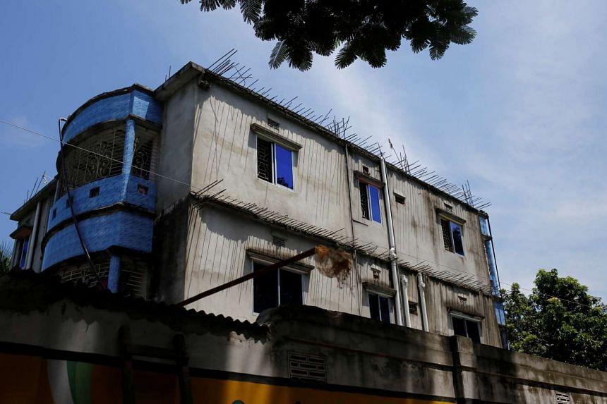A house where police says militants were killed on the outskirts of Dhaka, Bangladesh on Aug 27, 2016.