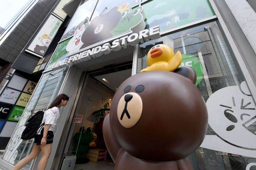Line is already growing its client base through dedicated product stores in Tokyo (above) and abroad, but Mr Idezawa wants to go further, making it a one-stop shop for users, by offering commercial services too.