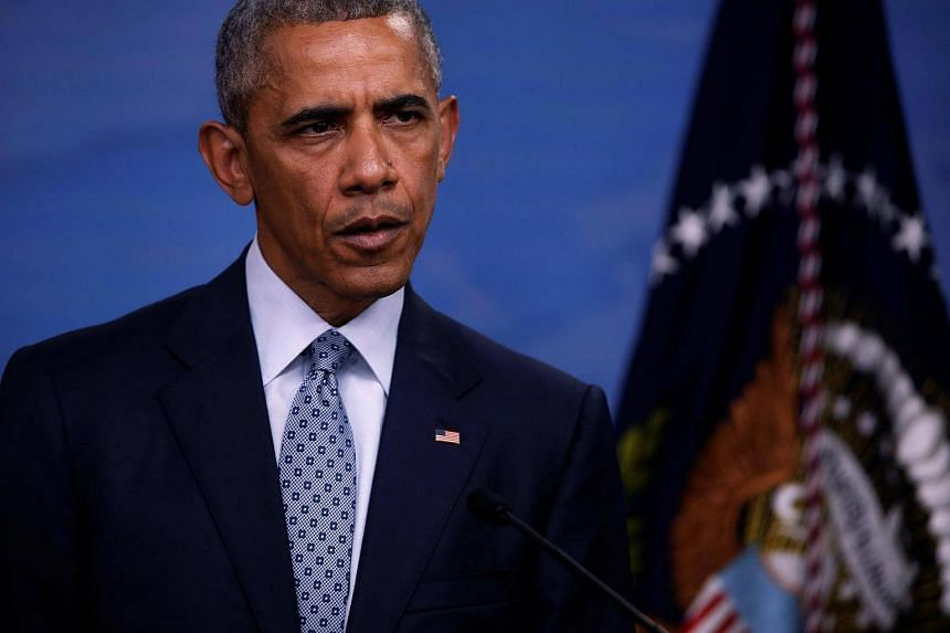 Obama holds a news conference at the Pentagon in Arlington, Virginia, US on Aug 4.