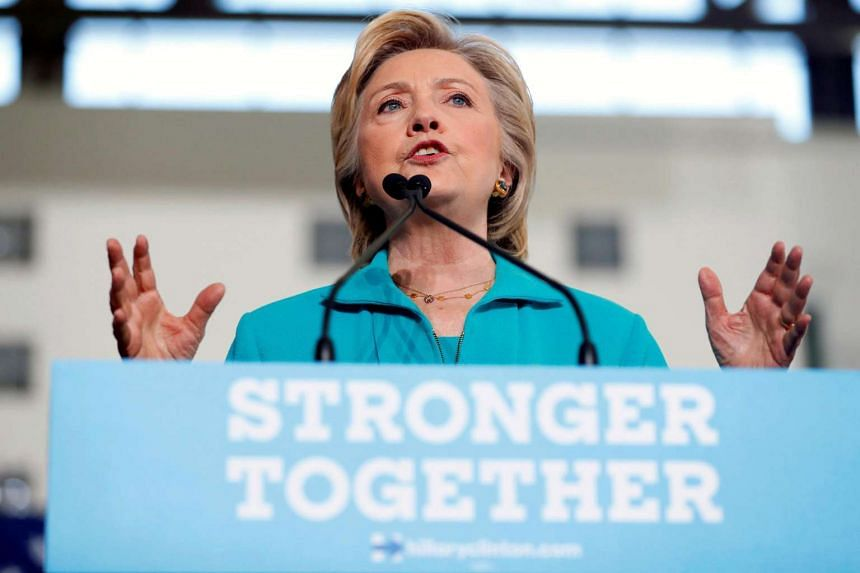 Democratic presidential nominee Hillary Clinton speaks at a rally at Truckee Meadows Community College in Reno, Nevada on Aug 25, 2016.