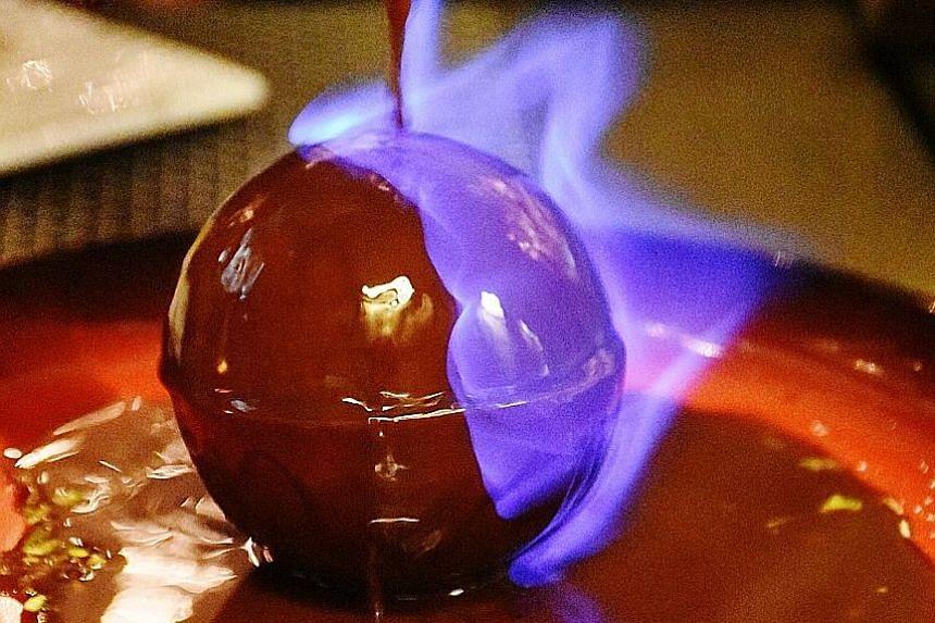 Chocolate Bomb Flambe