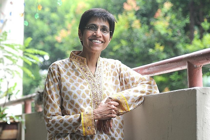 Dr Nair mingling with children at the Ang Mo Kio Family Service Centre, where she worked from 1987 to 2003. Dr Nair's work on family violence has been groundbreaking, helping to shape public policy. In 1999, she founded the Centre for Promoting Alter
