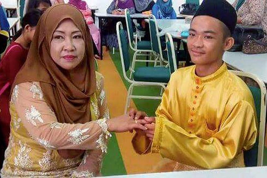 This picture of bride Dayang Sopiah Gusti and groom Mohd Sufie Alin during their solemnisation ceremony garnered mixed reactions from netizens. But the groom's father, Mr Matalin Utam, said age was no barrier.