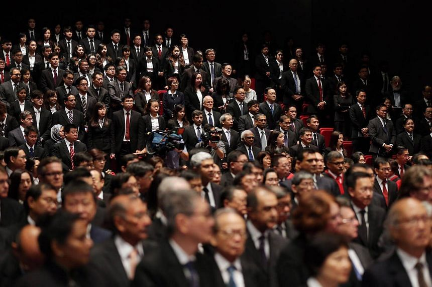 Lawyers attending the opening of Legal Year 2016 at the Supreme Court auditorium on January 11.
