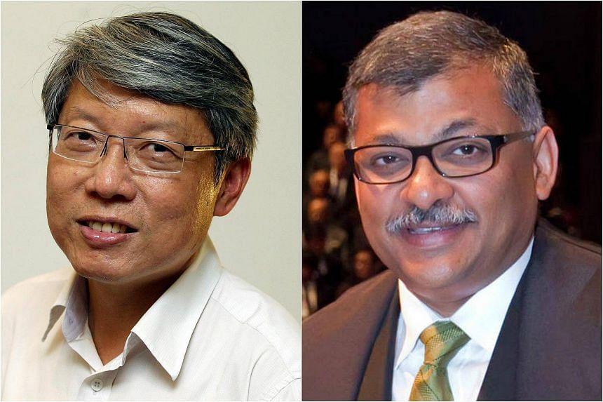 CJ Sundaresh Menon (right) and Senior Counsel Lok Vi Ming (left) were classmates in NUS' law school 30 years ago.