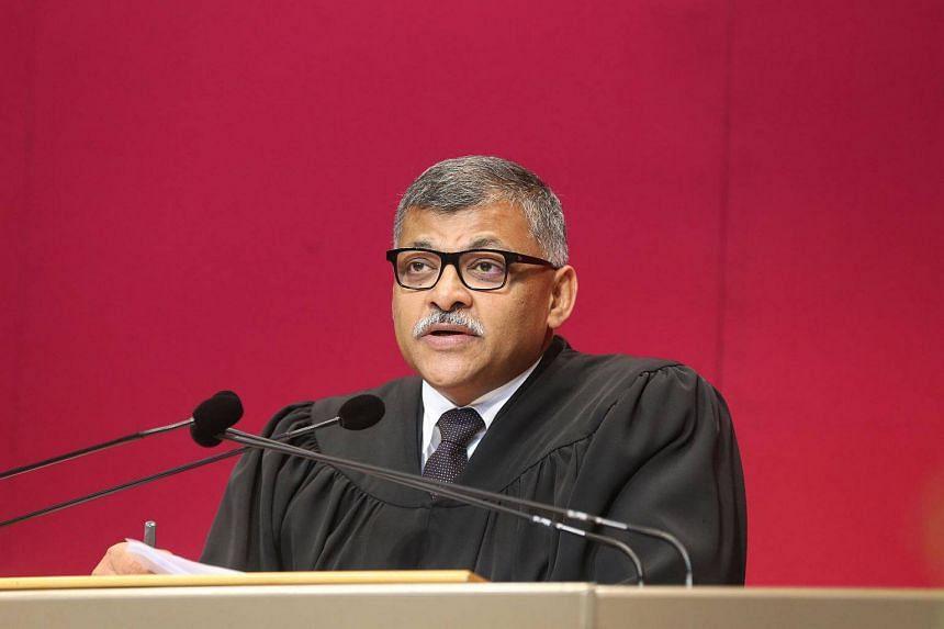 Chief Justice Sundaresh Menon speaking on Aug 27.