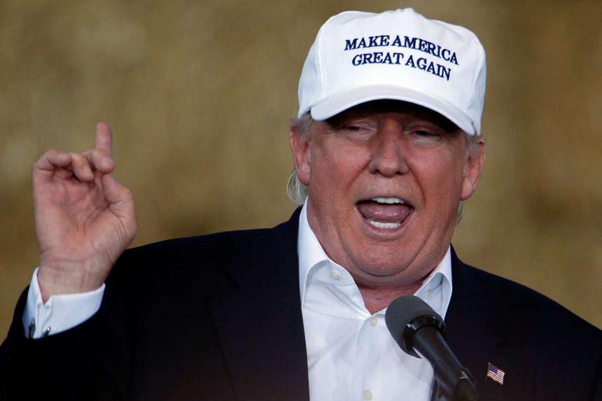 Republican nominee Donald Trump speaking in  Des Moines, Iowa, on Aug 27, 2016.