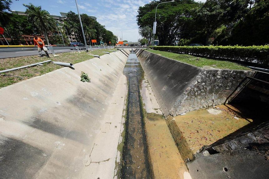 A stretch of Bukit Timah Canal near King Albert Park that was cleared of trees for the building of Downtown Line 2.