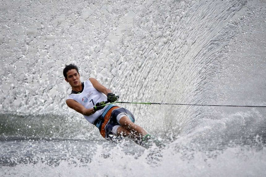 Singapore's Mark Leong at the SEA Games on June 13, 2015. He won the slalom title at the Asian Waterski and Wakeboard Championships in Korea from Aug 23 to 27.