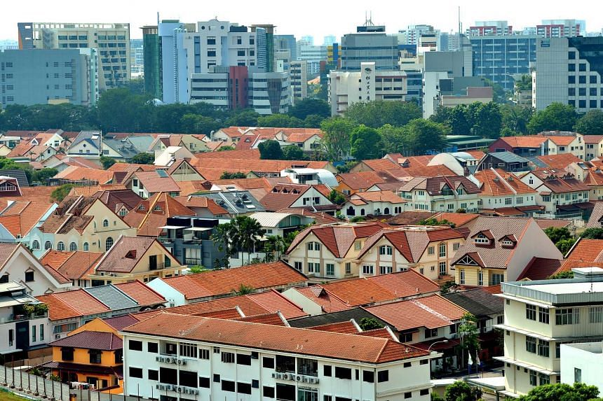Aerial view of private housing in Potong Pasir.