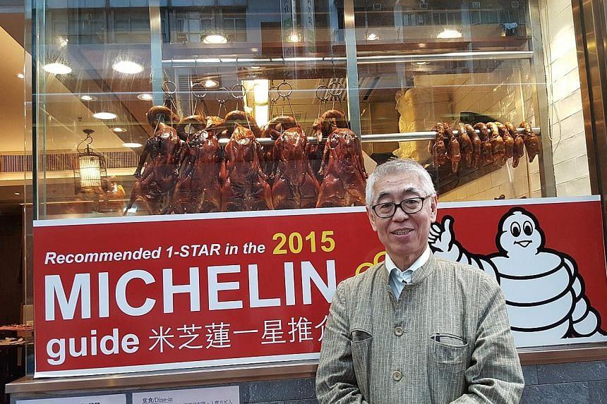 Singapore-born, Hong Kong- based television producer Robert Chua at Kam's Roast Goose.