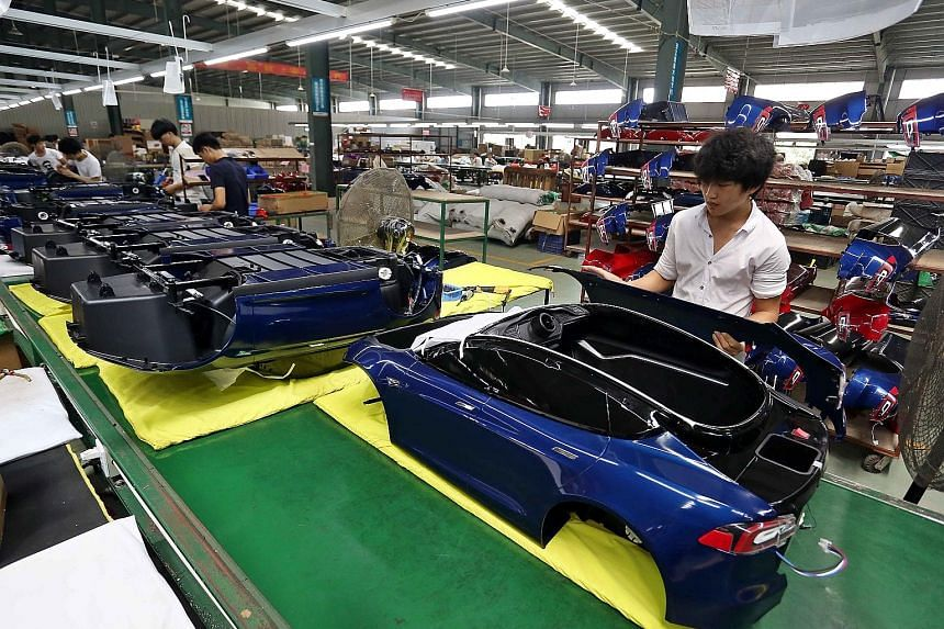 A toy factory in Jinjiang in Fujian province. China's private sector accounts for more than 80 per cent of urban employment and 70 per cent of total output.