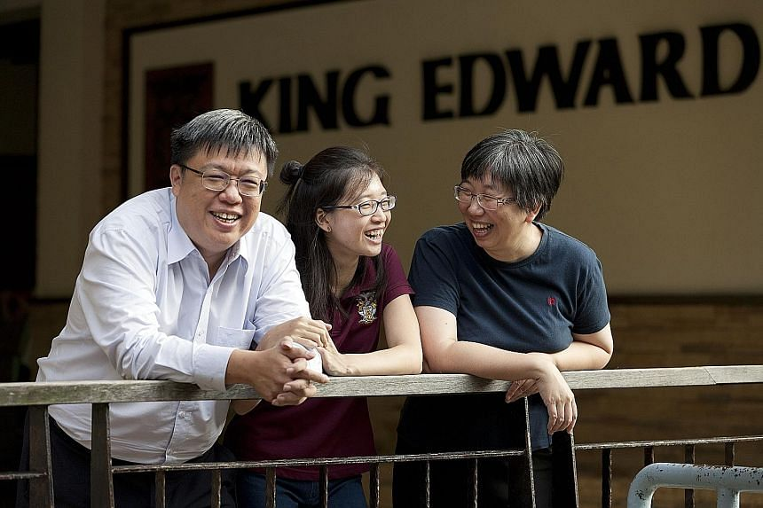 Dr Lee Kooi Cheng (above) took over as King Edward VII hall master last month. At left are current hall resident Lee Qing Hui, with dad Lee Chien Earn and mum Lim Peck Seah, who are hall alumni.