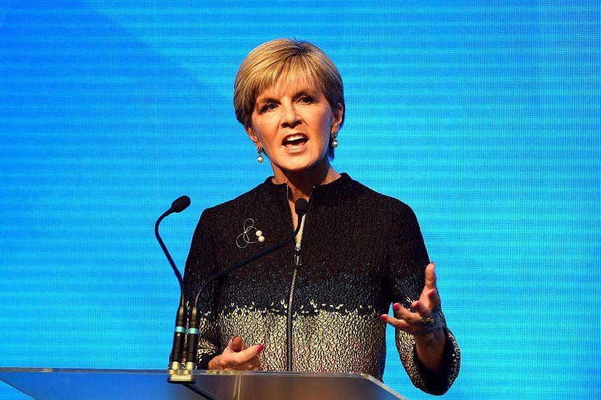 Australian Foreign Minister Julie Bishop speaks at the Coalition Campaign Launch in Sydney on June 26, 2016.