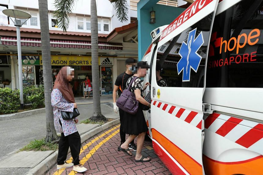 Suspected Zika patients are taken to the Communicable Diseases Centre at Tan Tock Seng Hospital by ambulance on Aug 29.