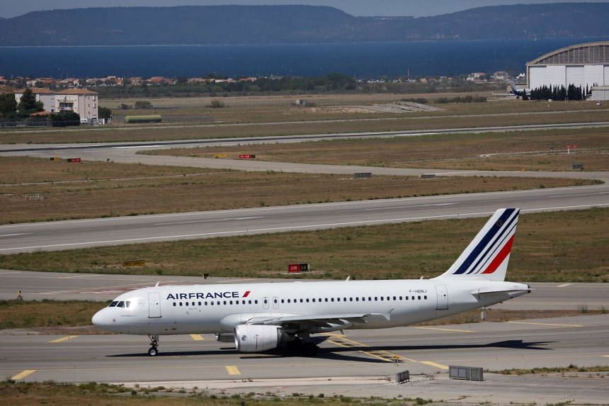 An Air France plane is seen on the tarmac last month (July).
