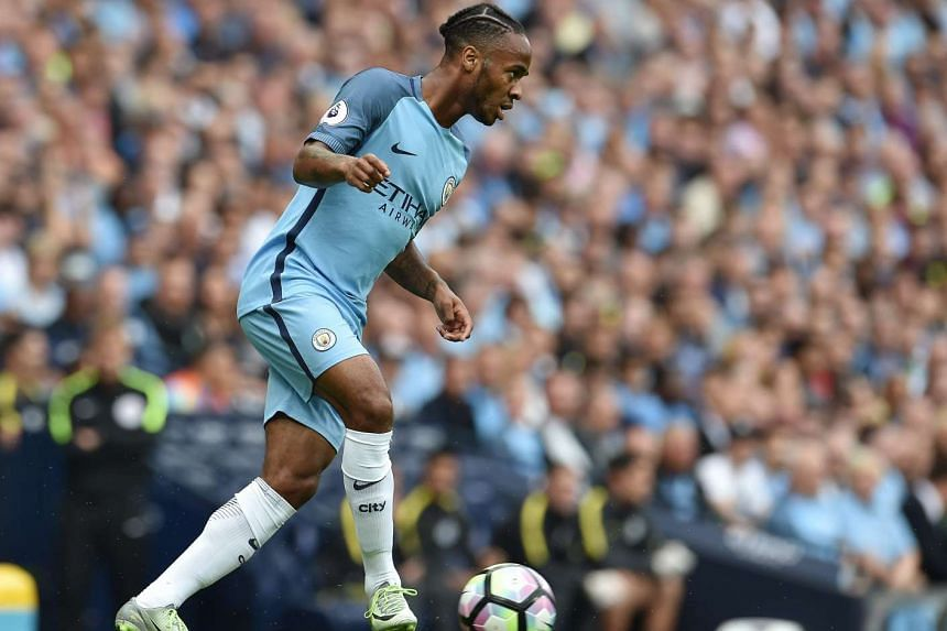Manchester City's Raheem Sterling in action against West Ham United at the Etihad Stadium in Manchester on Sunday (Aug 28).