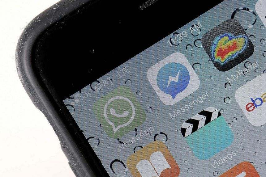 The WhatsApp application displayed on an iPhone.