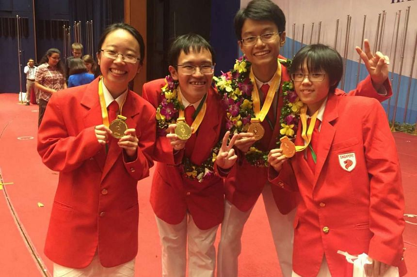 Singapore performed best in the International Biology Olympiad, where its team - with a haul of four gold medals - placed first overall among 252 participants from 72 countries.