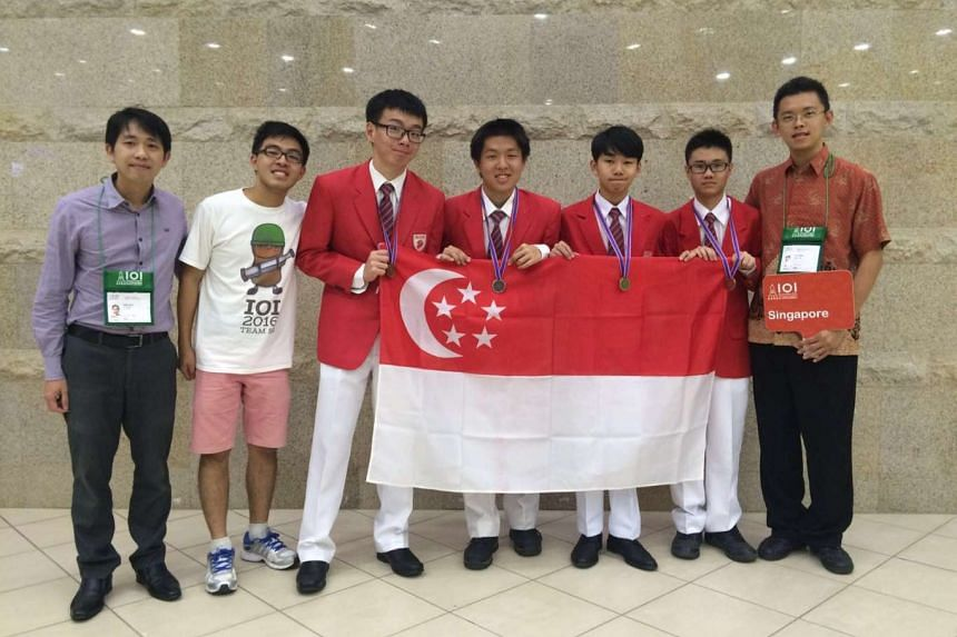 At the 28th International Olympiad in Informatics in Kazan, Russia, the Singapore team won one gold medal, two silver medals and one bronze medal, placing ninth in a field of 306 students from 84 countries.