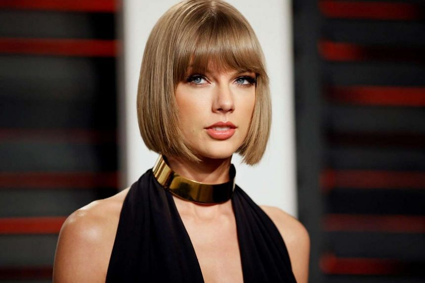 Singer Taylor Swift at the Vanity Fair Oscar Party in Beverly Hills, California, on February 28.