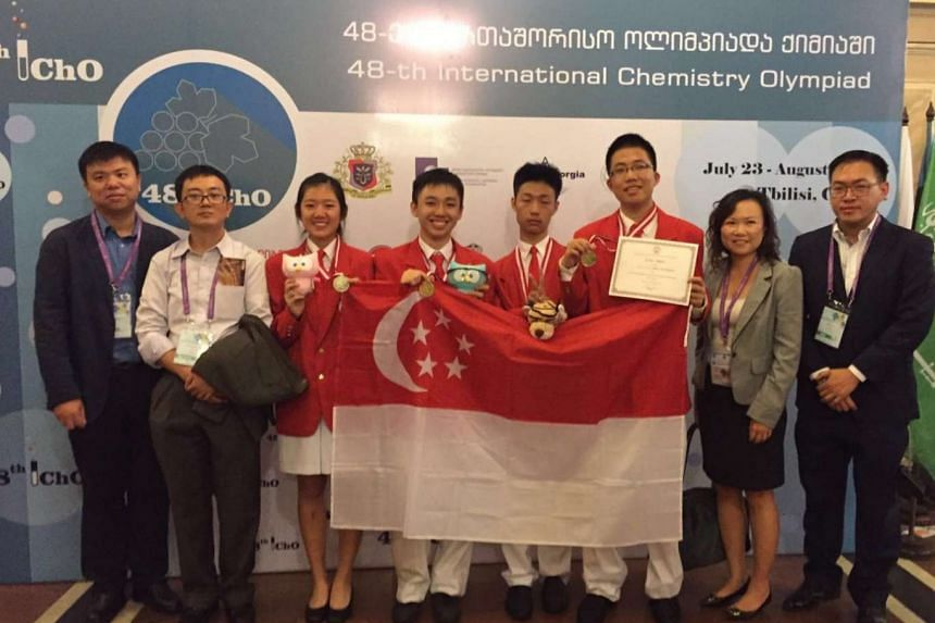 The Singapore chemistry team obtained two Gold medals and two Silver medals at the 48th International Chemistry Olympiads held in Tbilisi, Georgia.