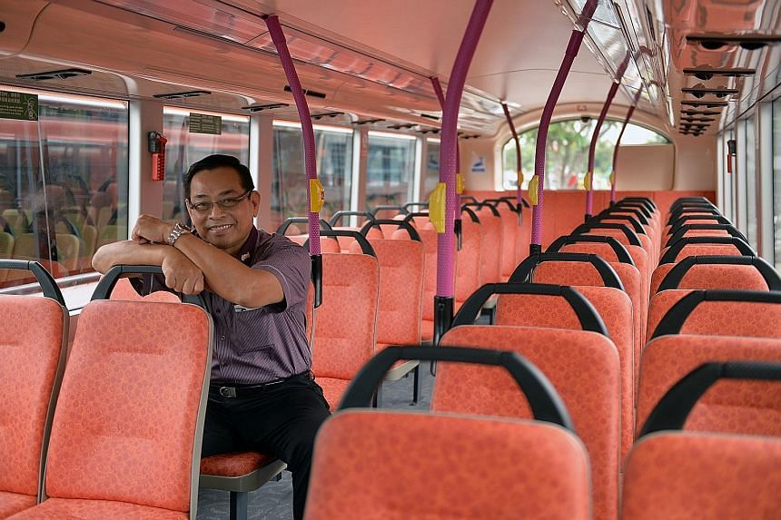 Mr Lim Yew Huat, 65, has been with SBS for 41 years. He is one of eight chief bus captains among some 6,000 bus drivers, and says he is glad that ComfortDelGro has raised the retirement age to 67.