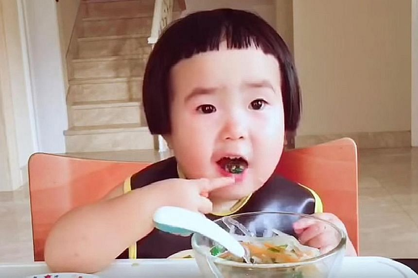 Xiao Man, an Internet sensation from China whose eating videos have thrilled many since she was a baby. Research shows that babies are learning by watching adults eat and figuring out who eats what foods with whom.