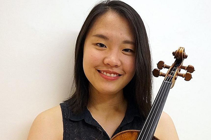 Student Brenda Koh (above) will play with the Australian World Orchestra, conducted by Alexander Briger, on Oct 1.
