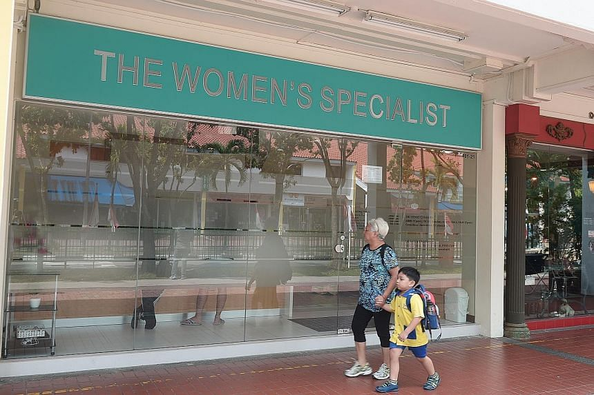Several women's clinics, such as The Women's Specialist (above) in Aljunied, have reported more calls than usual as people sought information on Zika. On social media sites, some expectant mothers living in the affected area of Aljunied Crescent/Sims