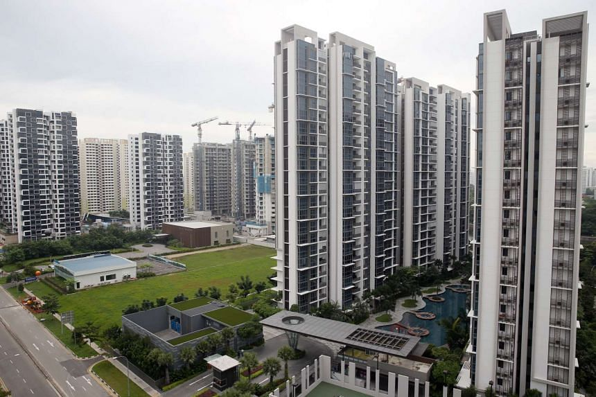 The Lush Acres (left), a 380-unit executive condominium project, next to the H2O Residences, a 521-unit residential project, at Fernvale Link.