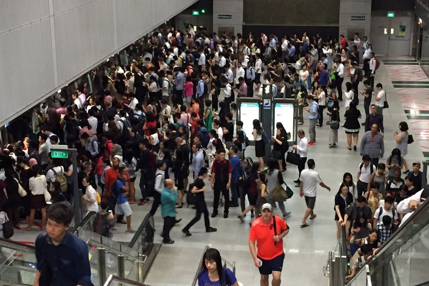 The morning rush hour saw crowded platforms at Circle Line stations such as Botanic Gardens, as Monday's signalling issue continued to plague train service.