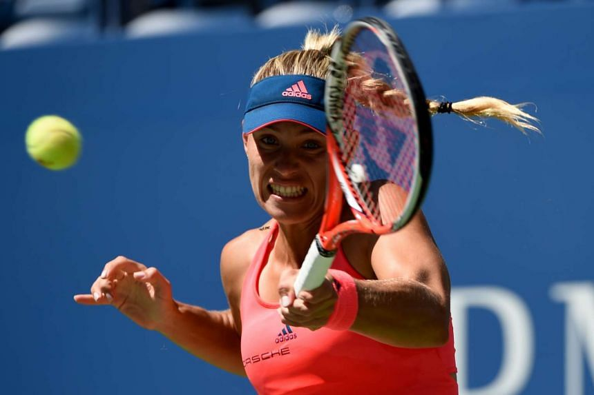 Angelique Kerber during a match against Polona Hercog of Slovenia during their 2016 US Open 2016 women's single match on Aug 29, 2016.