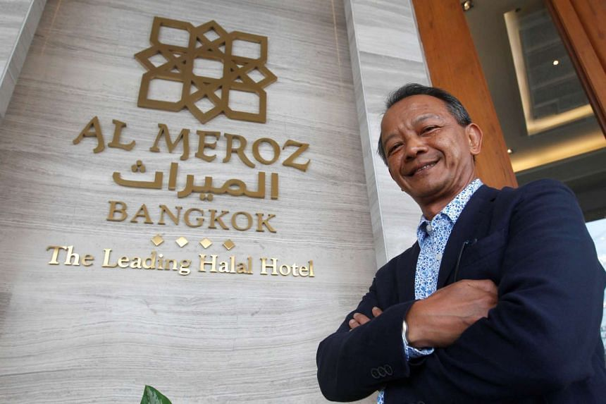 Al Meroz hotel's managing director and general manager Sanya Saengboon posing in the hotel's lobby.