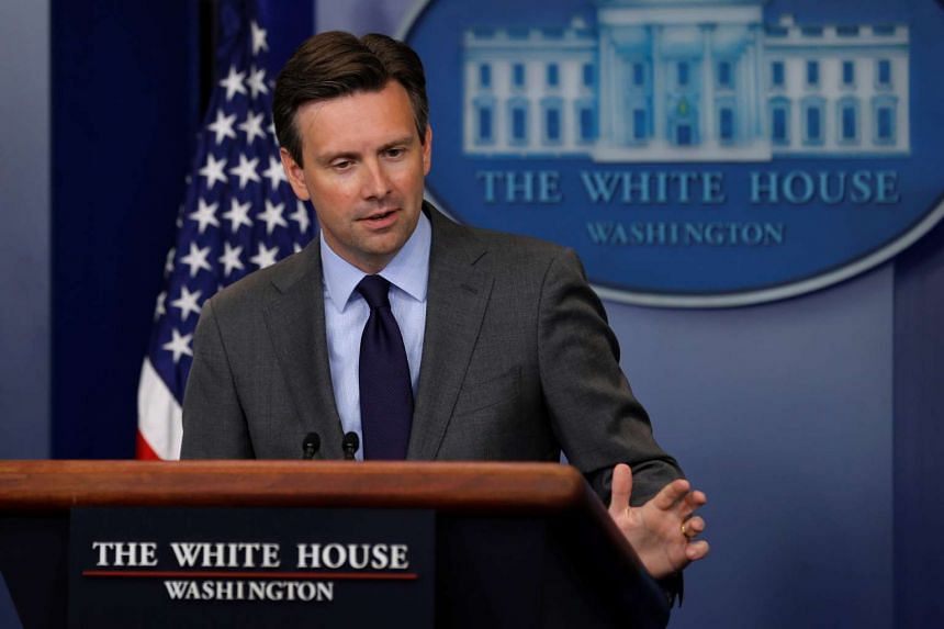 White House Press Secretary Josh Earnest holds the daily press briefing at the White House in Washington.