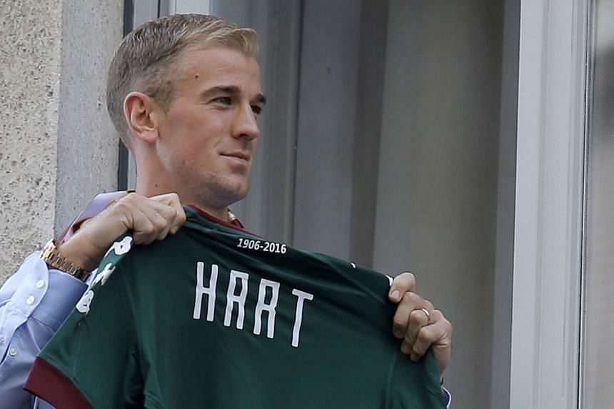 England goalkeeper Joe Hart posing after arriving in Turin for a medical ahead of a loan spell with Torino, on Aug 30, 2016.