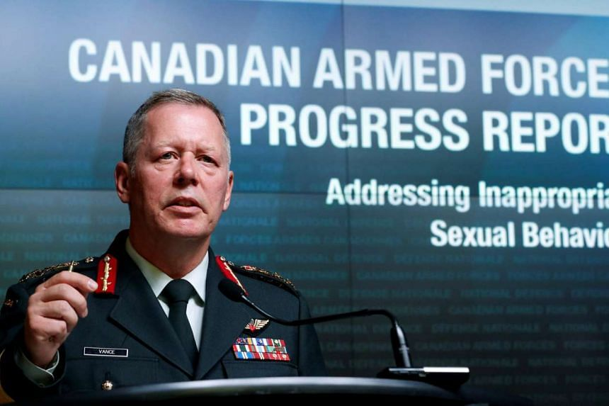 Canada's Chief of Defence Staff General Jonathan Vance speaks during a news conference upon the release of a progress report on addressing inappropriate sexual behaviour in the Canadian Armed Forces, in Ottawa, Ontario, Canada on Aug 30, 2016.