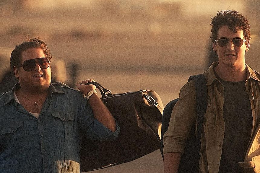 Jonah Hill (left) and Miles Teller play 20somethings who exploited the US army contracts bidding system.