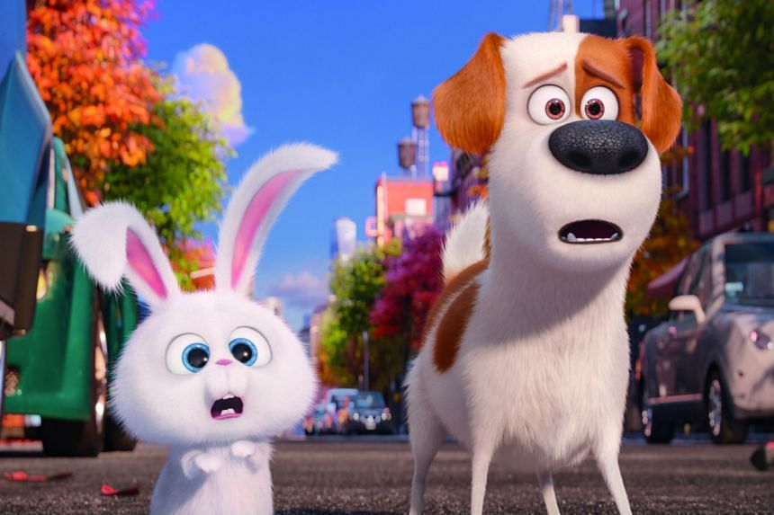 Kevin Hart voices maniacal rabbit Snowball and Louis C.K. is Max the terrier in The Secret Life Of Pets.