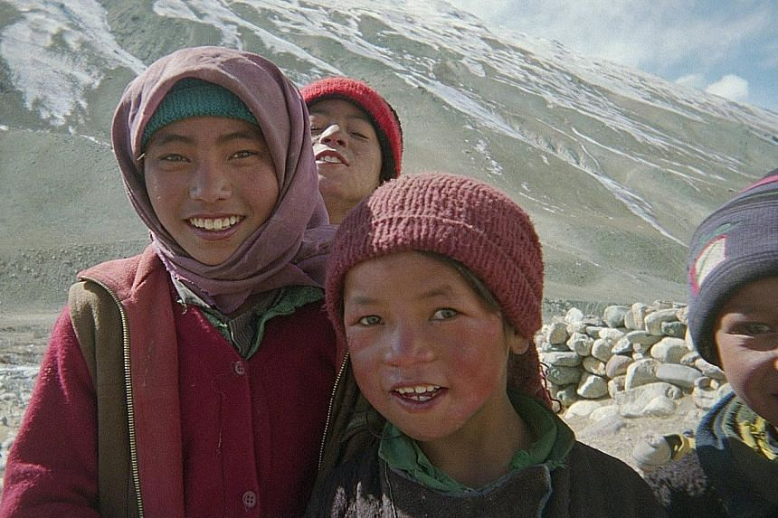 The film Journey From Zanskar documents the journey of 17 Tibetan children, led by two monks, across a mountain range to reach a school on the other side.
